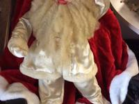 "29"" tall hand made Santa, he is in overall excellent"