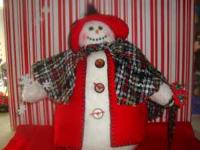 this is a new hand made snowlady for a Holiday and