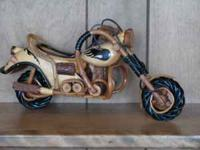 Hand made wooden motorcycle - $100. Entire motorcycle