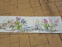 "Hand Painted Custom Mosaic Tile Backsplash 16"" x 56"" -"