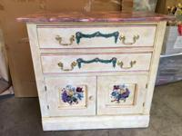 Beautifully hand painted dresser - English