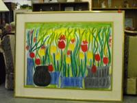 Description Beautiful Hand Painted Picture of Flowers,