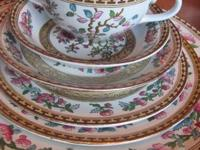 This is a BEAUTIFUL 80++ item set of antique china! It