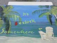 Hand made and painted picnic tables. 4 - 6- and 8 ft.