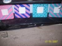 4 HAND PAINTED FRAMES CAN BE REPAINTED $3 A PIECE