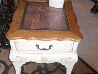 This is an old hand painted Country French table. Hand