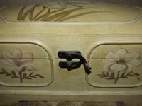 Hand painted chest with inside mirror and detachable