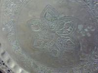Hand tooled Solid Brass very large plate/table top.