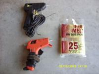 2 Mini glue guns $15. 13 pc. Black and Decker wood bit