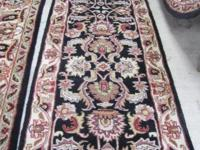 FOR SALE BEAUTIFUL HAND TUFTED AGRA INDIA WOOL RUNNER
