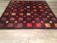 Beautiful Hand Tufted Wool/Silk Rug Size: 8 feet by 8