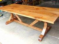 Beautiful Hand Built Farmhouse Tables For Sale In