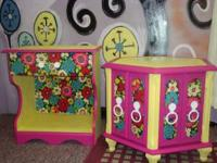 Hand crafted side tables/end tables /night
