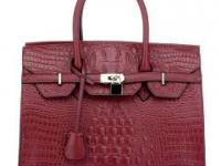 Free shipping! Made of genuine leather in crocodile