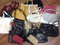 Lot of 14 handbags plus 2 wallets. These are from a