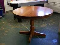 "42"" round solid cherry dinning table handcrafted by"