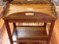Beautiful handcrafted cherry tea cart for sale. This