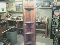 I made this Corner door shelf.  The door is solid pine