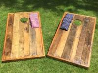 "Up for sale is a set of handcrafted Cornhole ""Bag Toss"""