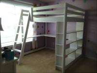 Hand crafted loft bed made from 100% solid wood makes