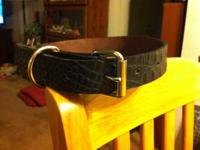 This is a high quality hand crafted Leather Dog Collar.