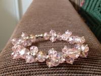 New and handmade bracelet from light pink colored