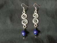 #1 pic: Nickel free double swirl wire fishhook earrings