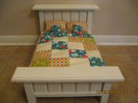 "This is a handmade doll bed suitable for an 18"" doll"