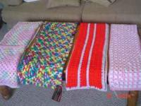 Assorted handmade afghans. Baby Afghans starting at