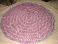 New, hand crocheted baby blanket. Spiral design.