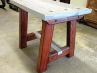 Handmade by woodworking hobbyistNatural Ceder Side