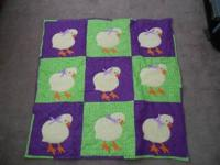I have a cute little chick blanket that was made for my