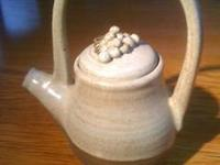 Selling this beautiful little handmade teapot, glazed