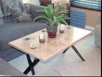 NEW, Handmade Maple Coffee Table. This table features a
