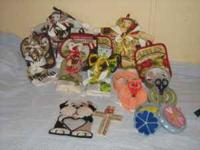 All kinds of handmade crafts, sewing kits, coasters and