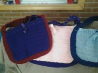 Handmade crochet purses for sale, made them myself.