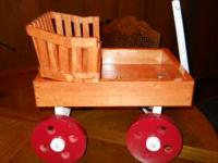 I have wooden handmade doll wagons with removable seat