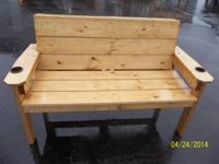 These benches are all handmade and be available in