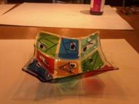 I created this glass bowl very artsy it was made in