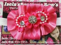 $7 Each handmade hot pink headband to see more, visit