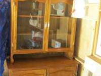 Hand made hutch, made in 1973, solid oak plywood. Call