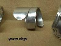 Handmade jewelry from flatware. We have rings,