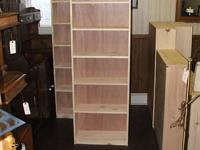 Handmade solid knotty pine bookcases. Unfinished. Four