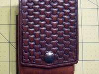 I make these hand made and hand tooled leather pouches
