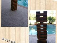 Hand-made life size Jenga builds up to 4ft. tall!! This