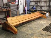 the long log bench is 14 ft long and terrific for your