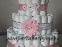 I create 3 layer pamper cakes that many have utilized