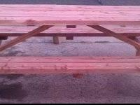 Picnic tables come in 4ft, 6ft and 8ft sizes in your