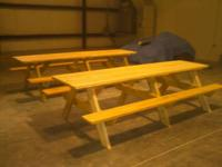 We build heavy duty handmade Picnic Tables.  with Bolts