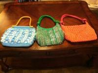 Handmade purses available in different colors and